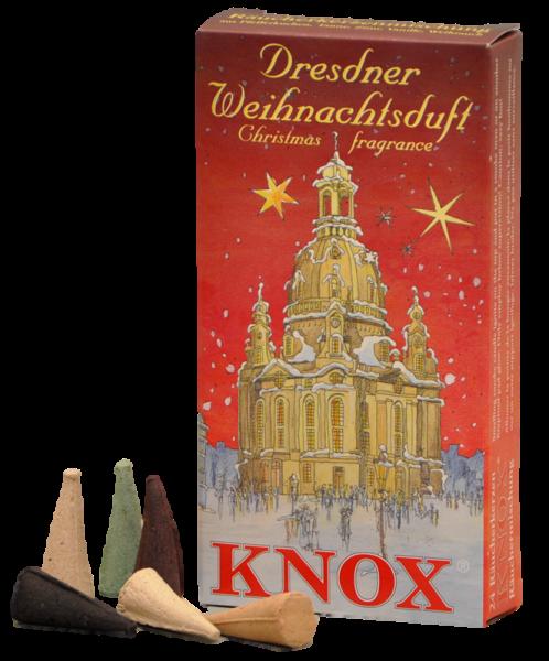 KNOX Räucherkerzen Dresdner Weihnachtsduft - red